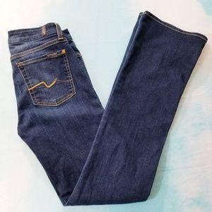 7FAM Karah Dark Wash Jeans Karah Boot Size 28